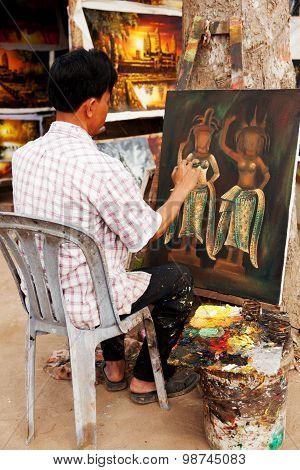 Cambodian Painter, Angkor Wat