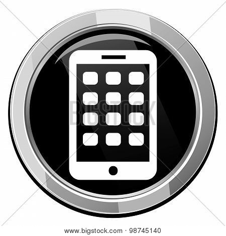Mobile Phone Icon. Modern Smartphone Mobile Device