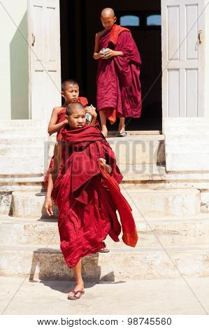 Young Monks, Myanmar