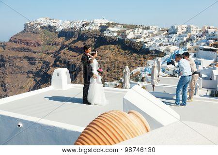 Honeymoon on Santorini