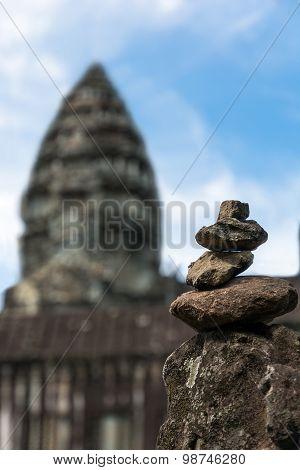 Stone Pyramid In Cambodia
