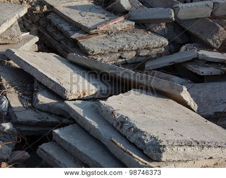 Concrete Blocks And Piles