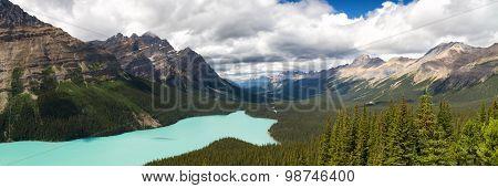 Panorama Peyto Lake