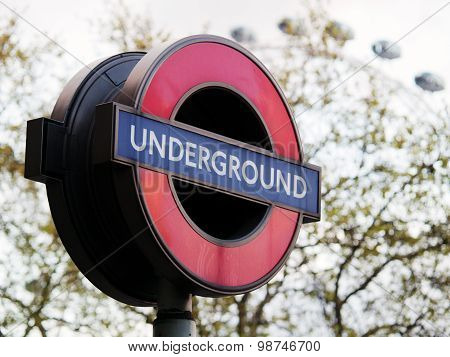 Westminster Underground Sign, London