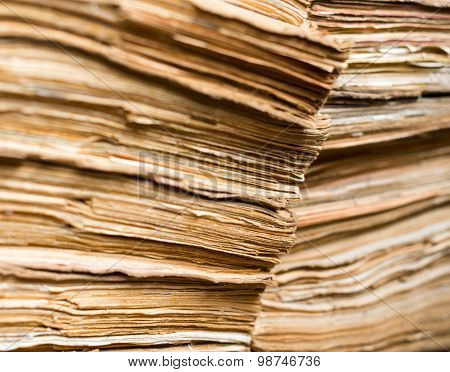 Old Paper Documents In The Archive