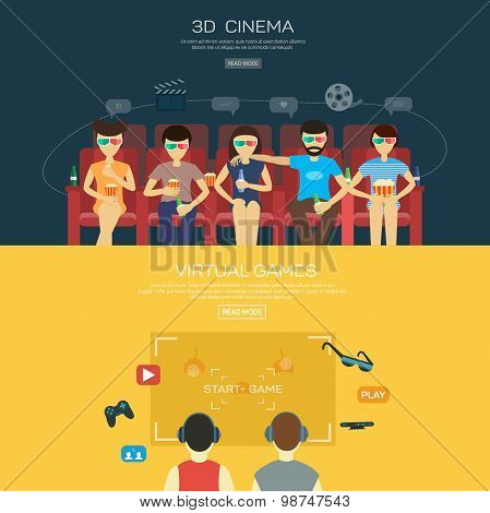 Vecot for 3d cinema and games