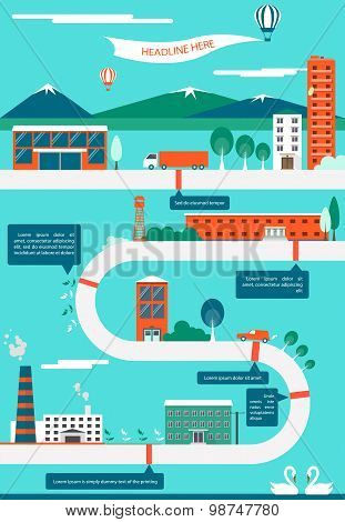 Vector illustration of infrastructure