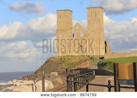 Reculver Towers and Roman Fort by the Sea