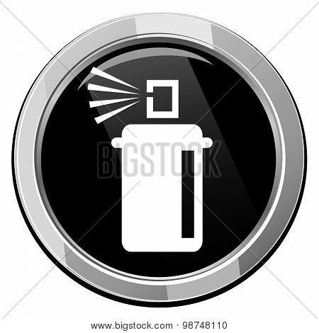 Spray With Chemicals. Vector Illustration.