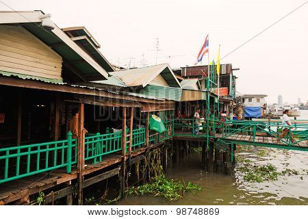 Small Restaurants Near Chao Phraya River, Bangkok
