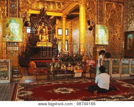 Inside Botataung Pagoda, Yangon