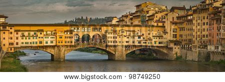 Ponte Vecchio in sunset Florence, Italy