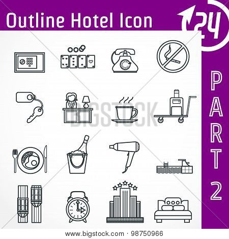 Hotel Outline Icon
