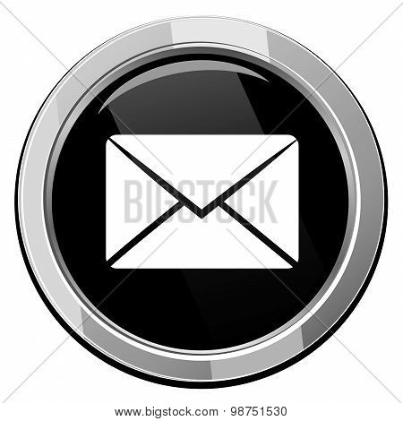 Send Email Symbol, Vector Round Icon