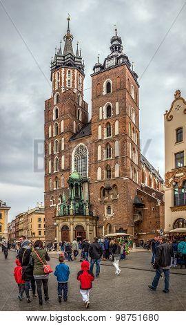 Mariacki Church In Cracow, Poland