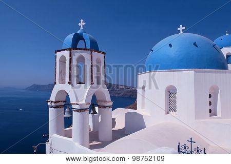 Santorini  Blue And White Church, Oia, Santorini, Greece
