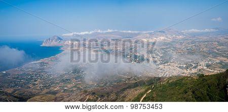 Gulf Of Bonagia And Monte Cofano. Trapani, Sicily, Italy.