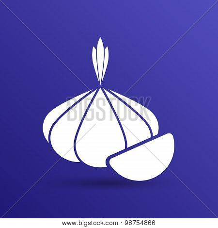 Garlic agriculture food healthy icon isolated line logo