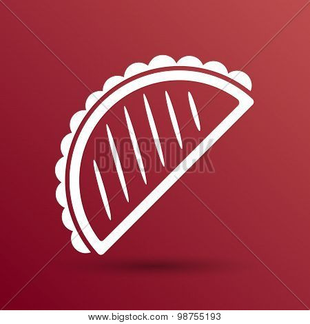 Mexican fast food vector logo design template. tacos icon