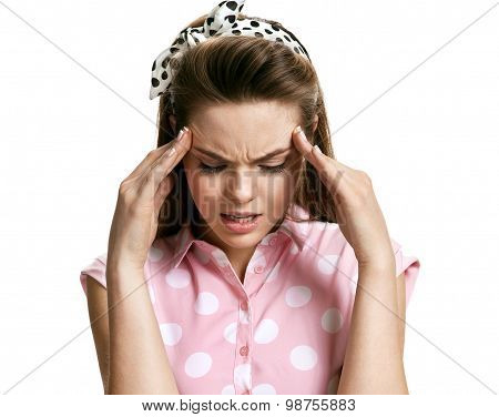 Girl With Headache Stressed