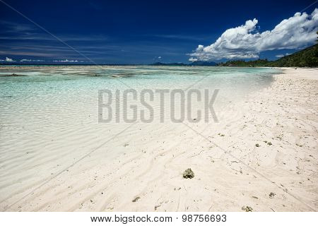 Magnificent Tropical Sea And Blue Sky With Clouds
