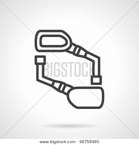 Bike mirrors black line vector icon