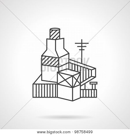 Brickworks factory line vector icon