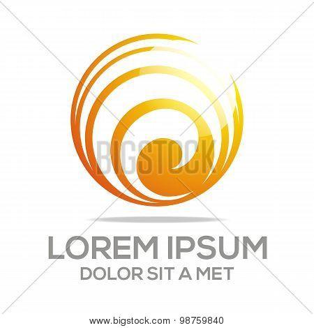 Logo idea imagination concept icon circle spin vector