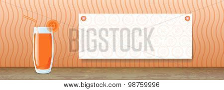 Juice Banner. Carrot