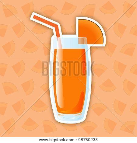 Juice Icon. Pumpkin
