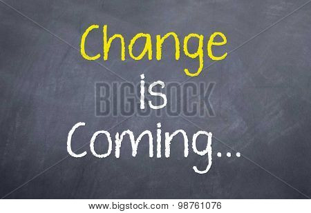 Change is Coming...