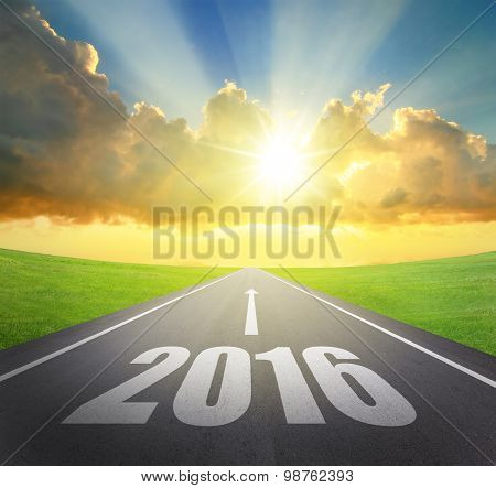 Forward To 2016 New Year Concept