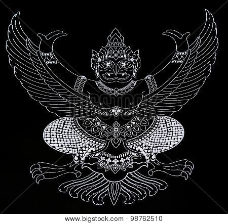 Garuda on black background