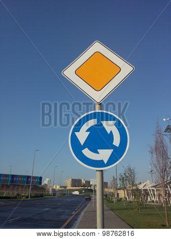 Road symbol signs or traffic symbol