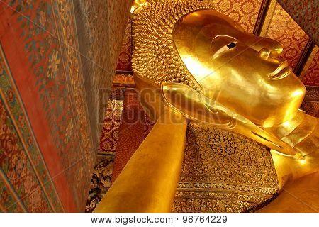 Reclining Buddha Gold Statue, Thailand