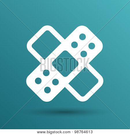 Patch icon line plaster isolated aid medical
