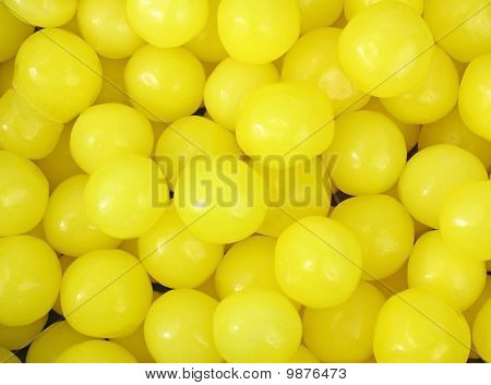 Close View Of Lemon Candy