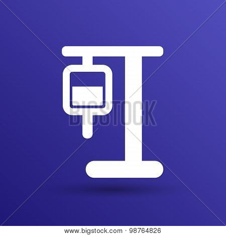 infusion icon illustration medical bag dropper intravenous vein