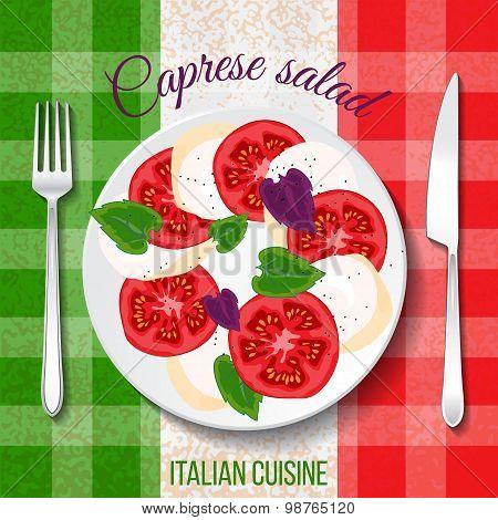 Traditional Italian cuisine.