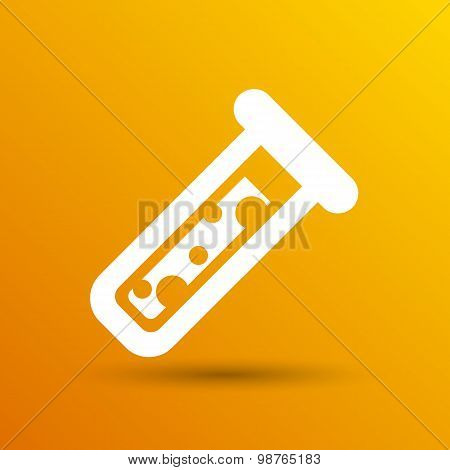 test icon vector fluid symbol flask glass chemistry experiment