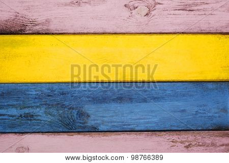 Wooden Colorful Background.