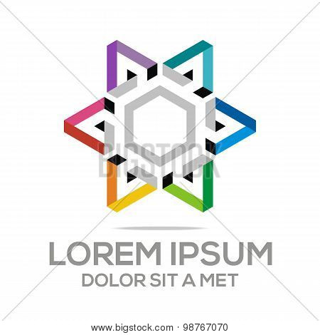 Logo abstract triangle vector