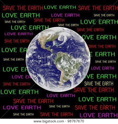 Save The Earth Concept (elements Of This Image Furnished By Nasa)