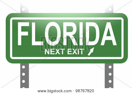 Florida Green Sign Board Isolated