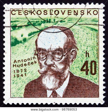Postage Stamp Czechoslovakia 1972 Antonin Hudecek, Painter