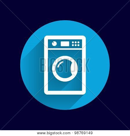 washing machine icon laundromat vector clothing electric clear