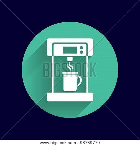 Coffee maker monochrome icon electric cafe kitchen