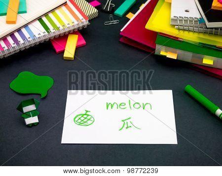 Learning New Language Making Original Flash Cards; Mandarin