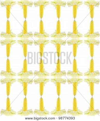 Fresh Corn Cobs Seamless Pattern Background