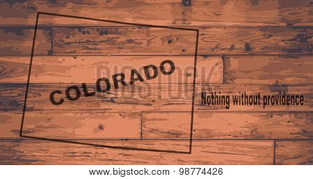 Colorado Map Brand